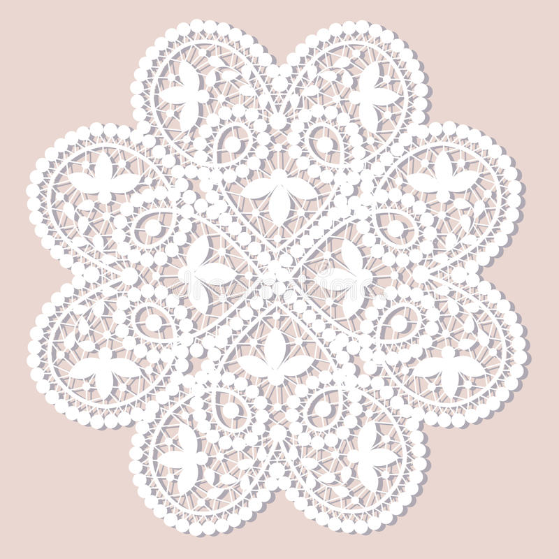 Lace doily royalty free illustration