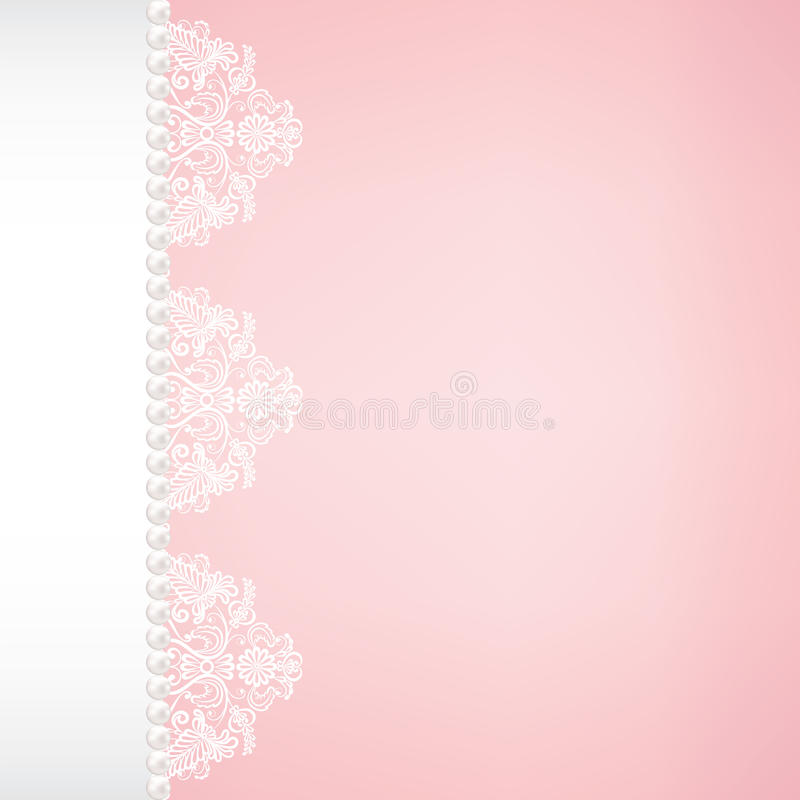 lace fabric background with pearls stock illustration