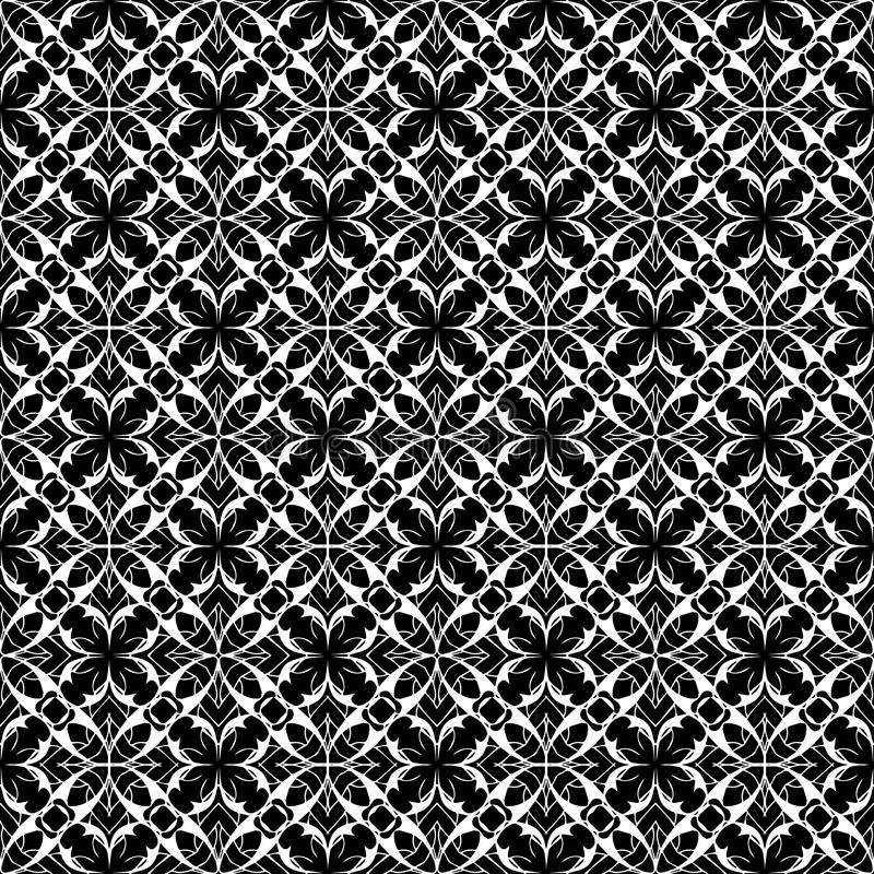 Lace floral seamless pattern. Vector black and white lacy background. Elegance ornament. vector illustration