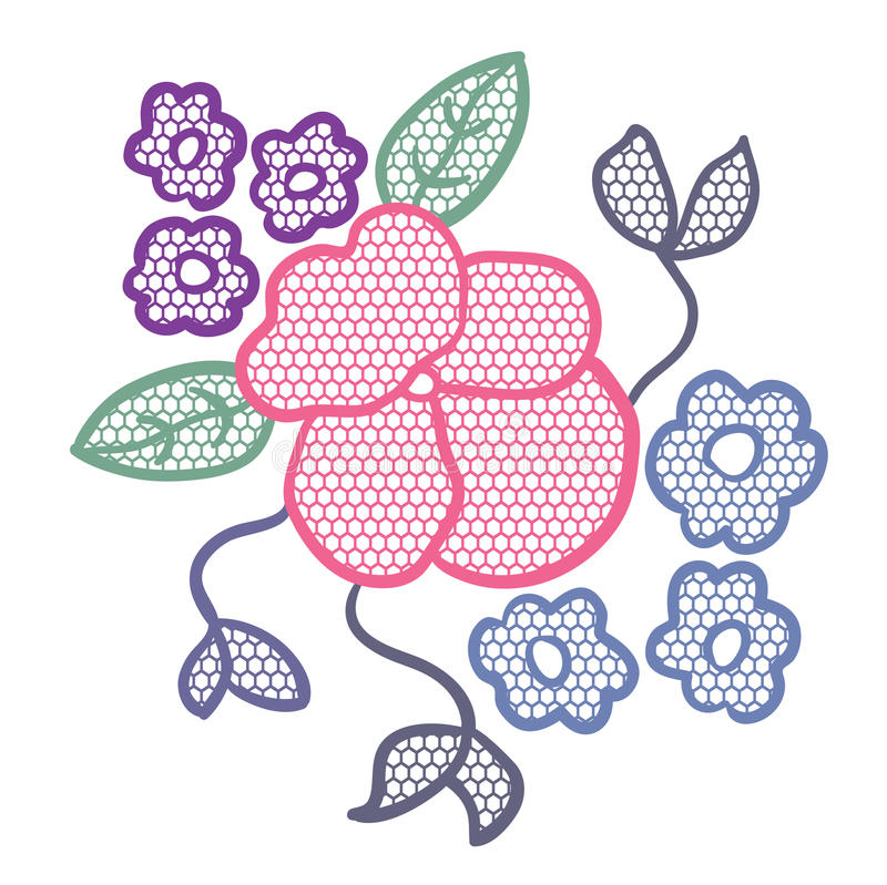 Download Lace flower applique stock vector. Image of decor, elegance - 25111759