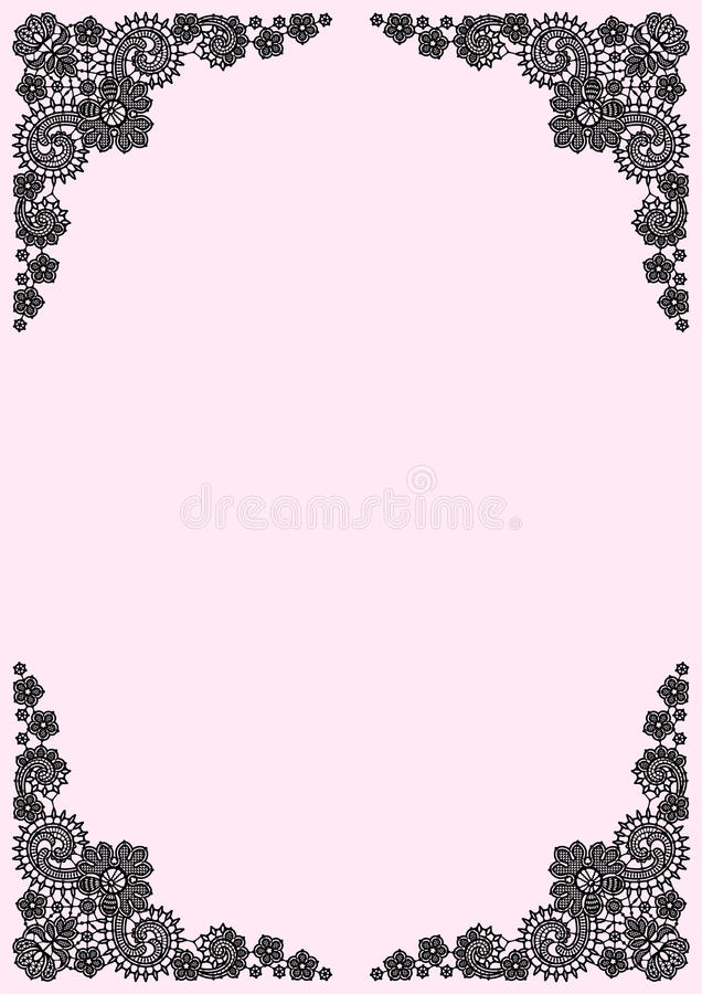 Lace Frame. Lace Vector Background. stock illustration