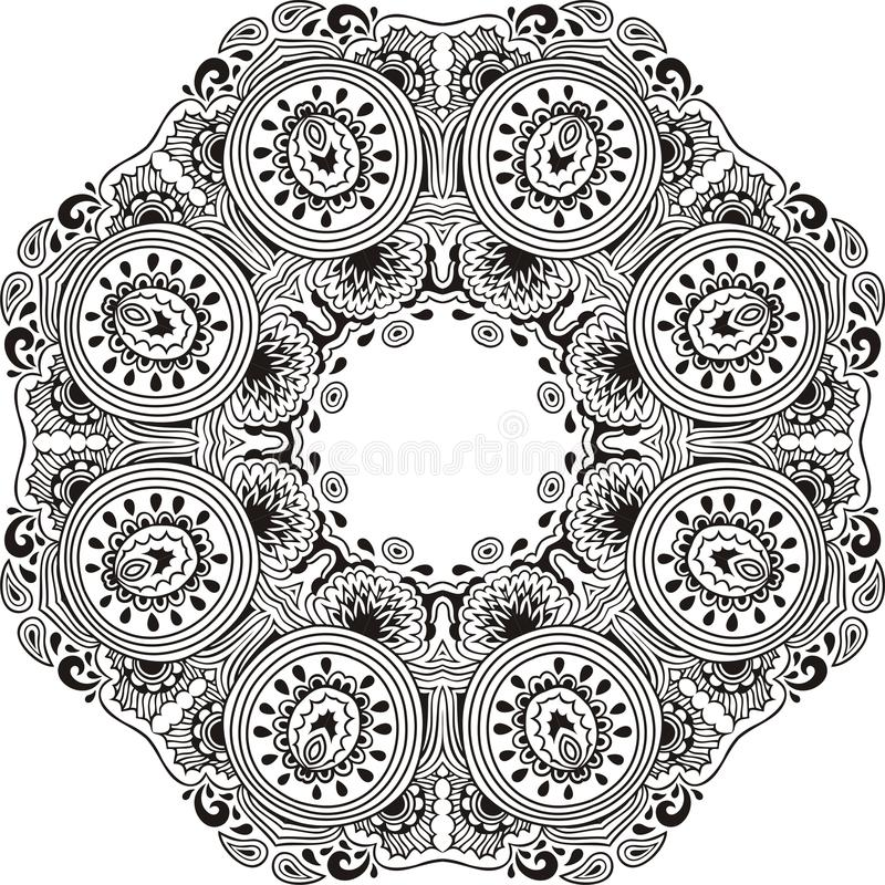 Mandala Design Coloring Book Round For Paisley Eastern Cucumber
