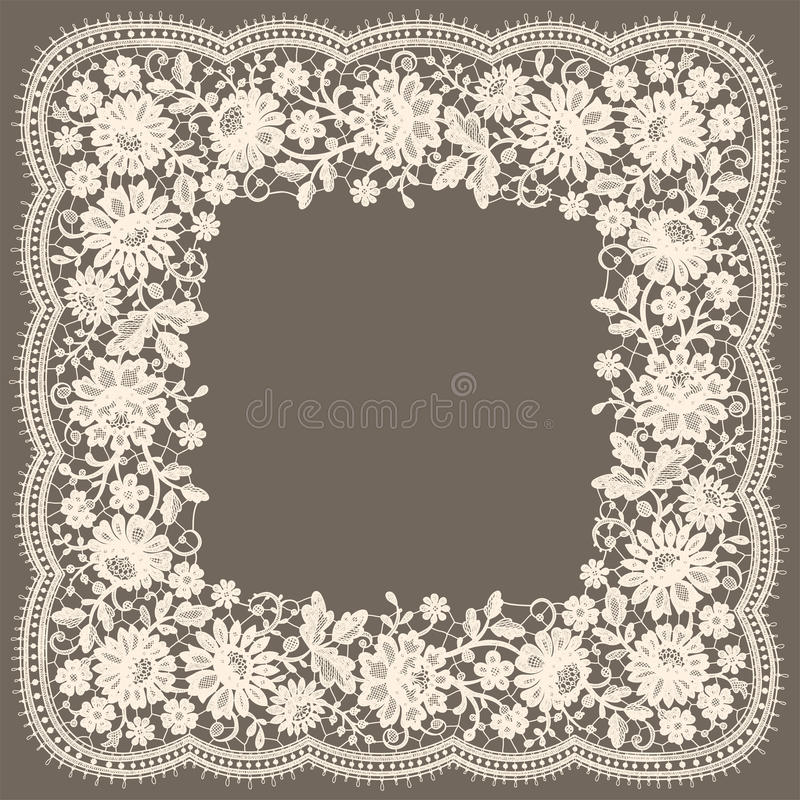 Lace Frame. vector illustration