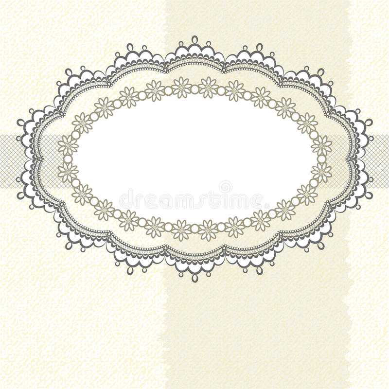 Lace frame on textured background