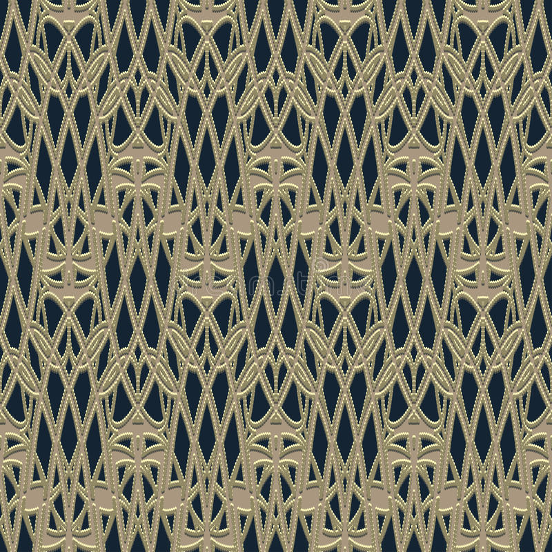 Lace grid fabric vector illustration