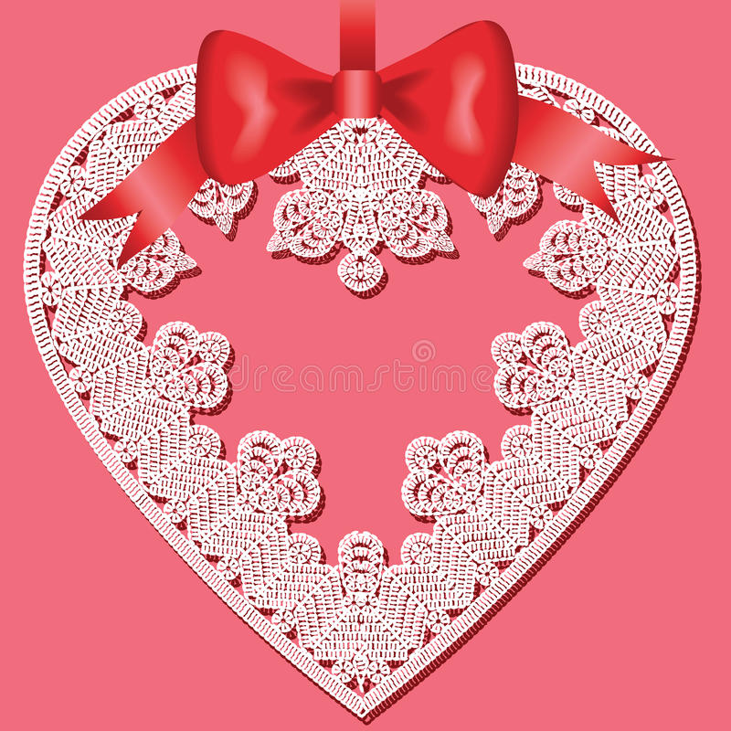 Download Lace heart stock vector. Image of scrapbooking, charming - 28627140