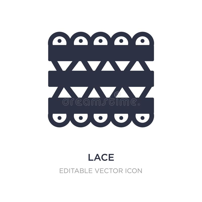 lace icon on white background. Simple element illustration from UI concept royalty free illustration