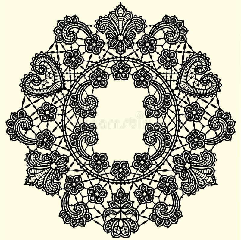 Lace Pattern. Lace Vector Background. stock illustration
