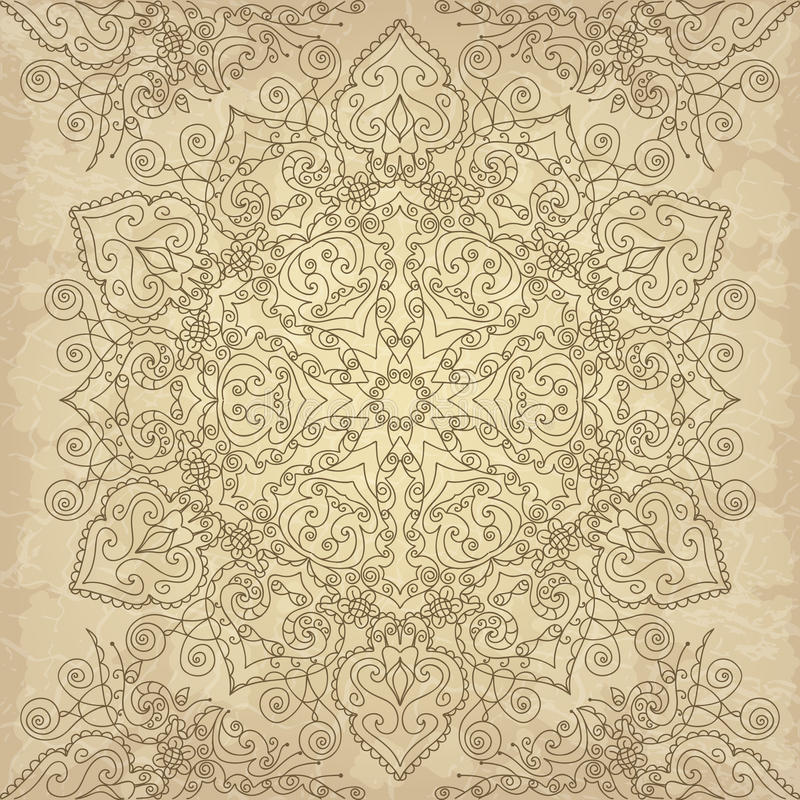 Download Lace pattern stock vector. Image of fragility, embroidery - 34615427