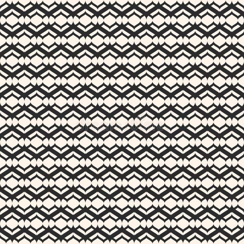 Lace pattern, vector monochrome seamless texture, smooth lines. Lace pattern, vector monochrome seamless texture, abstract repeat background, smooth lines stock illustration