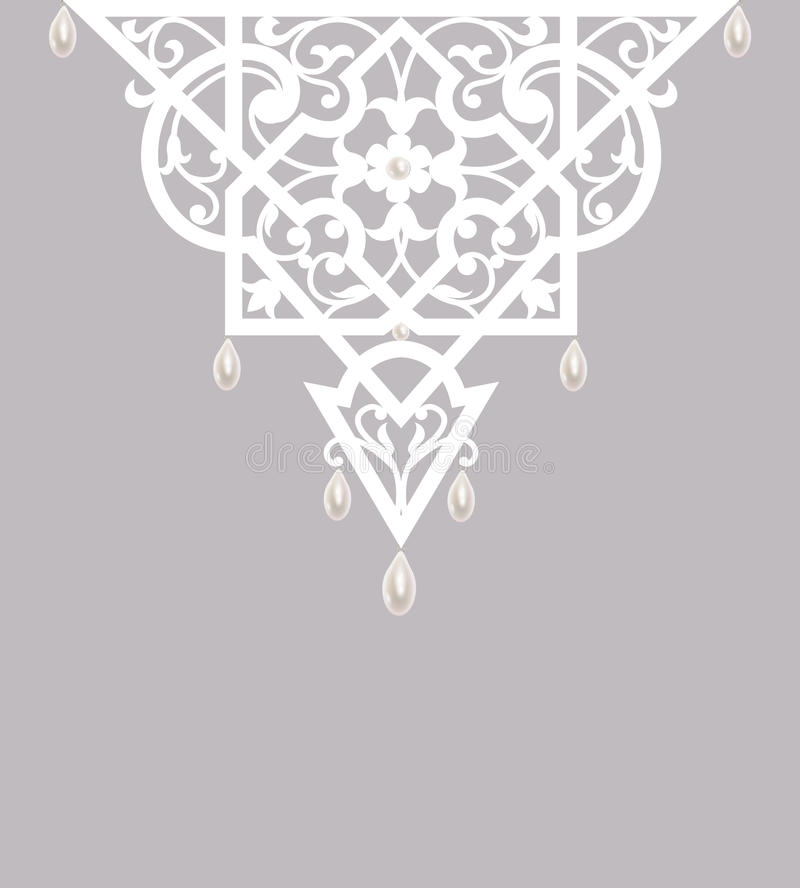 Lace with pearls vector illustration