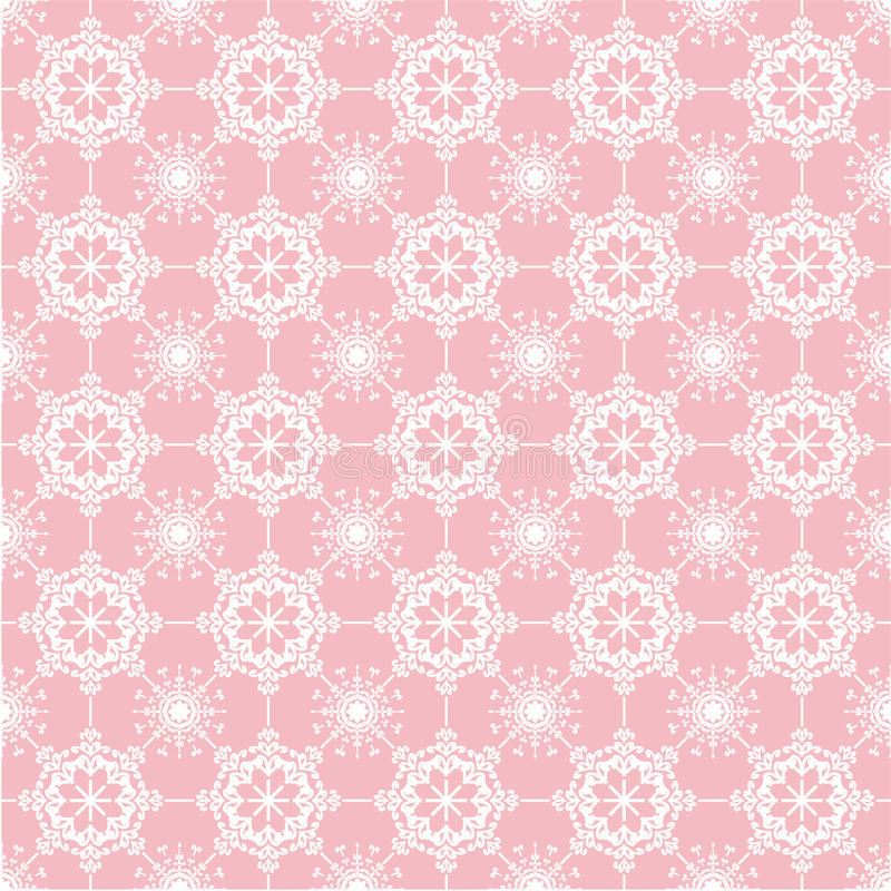 Lace on pink background vector illustration