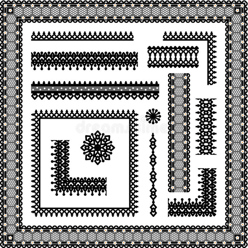 Download Lace Seamless Borders, Corners, Frames, Vignettes Stock Vector - Illustration: 20652079