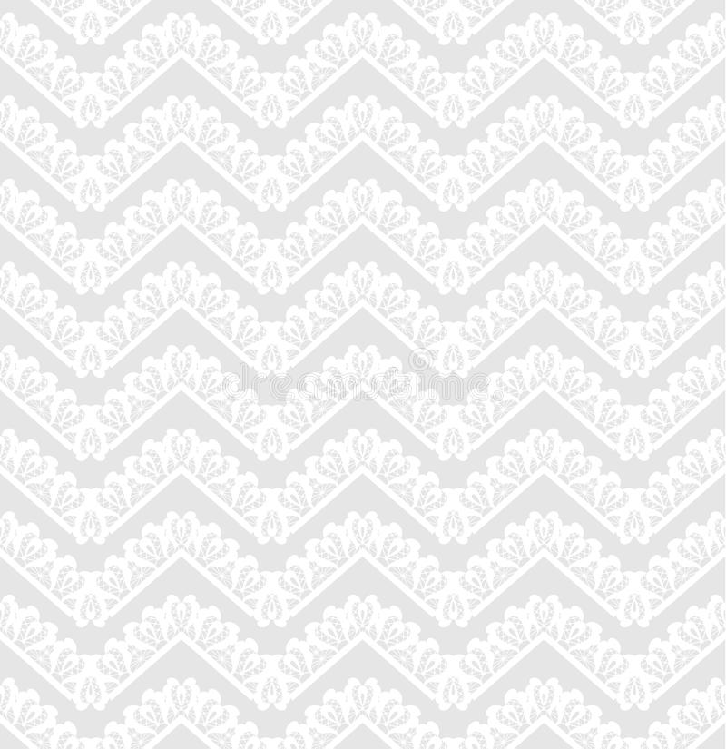 Lace seamless pattern with chevron vector illustration