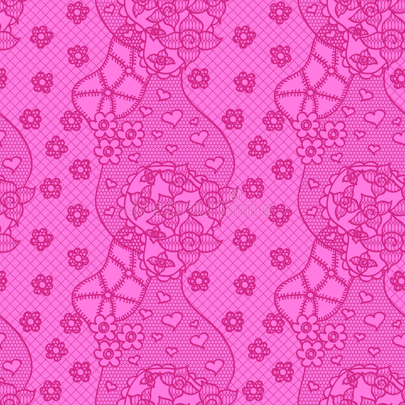 Download Lace Seamless Pattern With Flowers Stock Image - Image: 24266391