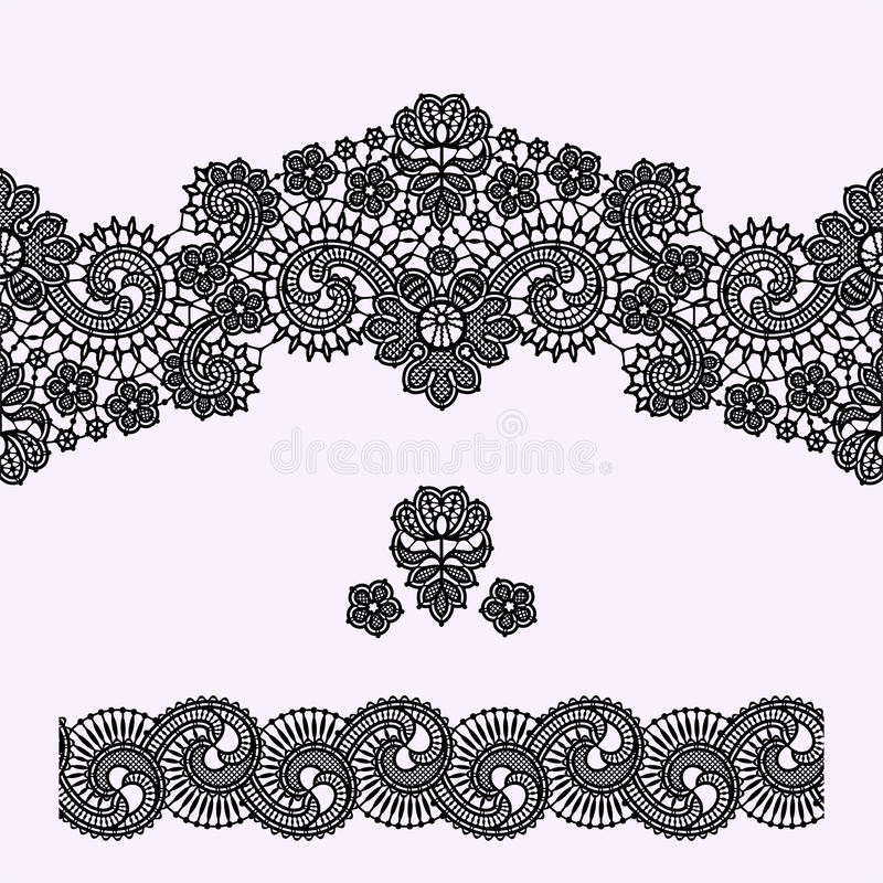 Lace Seamless Pattern. Lace Vector Background. vector illustration