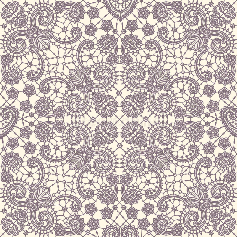Lace Seamless Pattern. Lace Vector Background. stock illustration