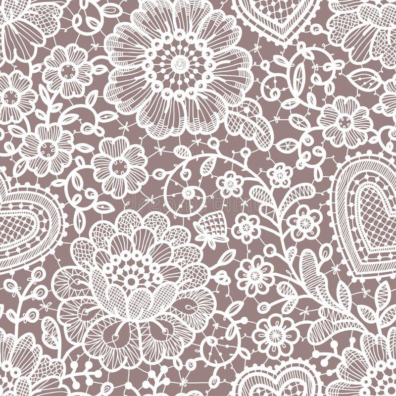 Lace seamless pattern. White Lace seamless pattern. Pastel Backgrounds stock illustration