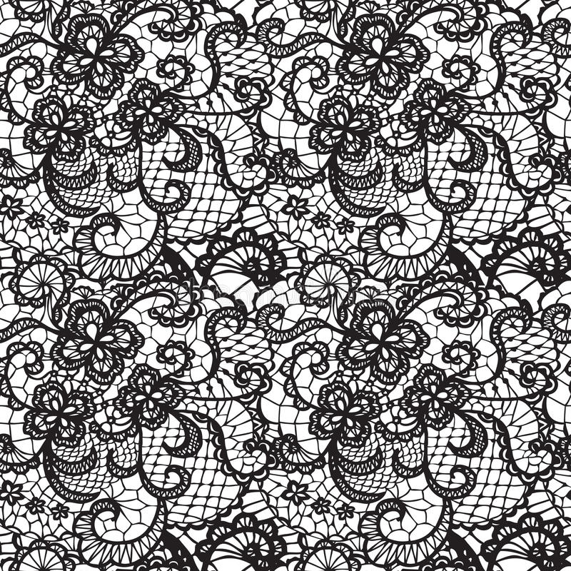 Free Lace Seamless Pattern With Flowers Royalty Free Stock Photo - 34570445