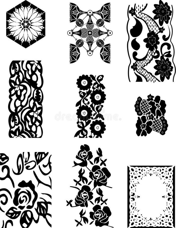 Download Lace set stock vector. Illustration of bridal, draw, feminine - 17346452