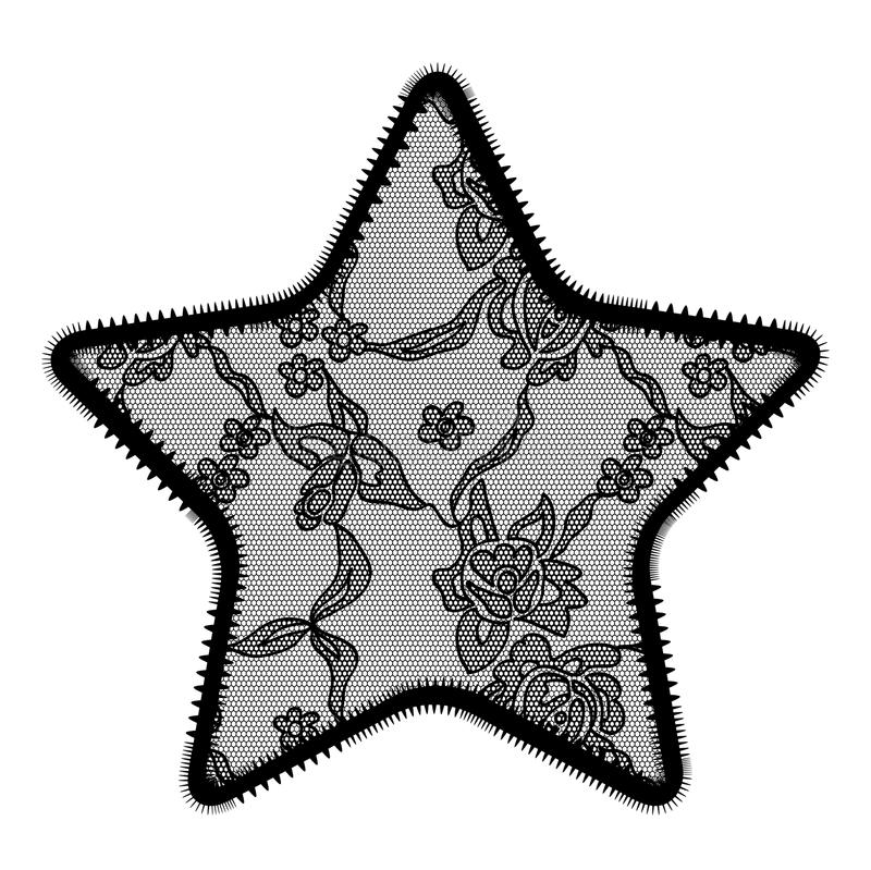 Lace Star Applique Stock Photo
