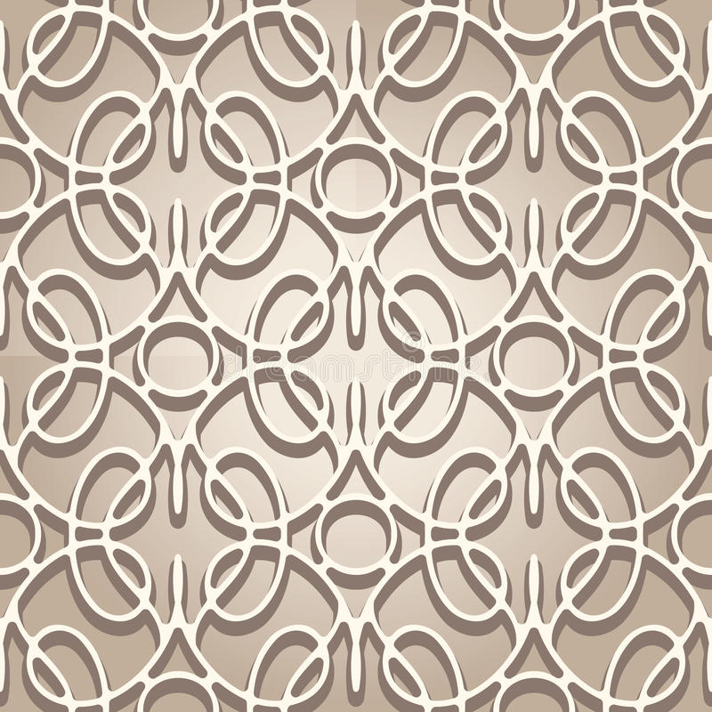 Lace texture. Abstract beige lace texture, seamless pattern vector illustration