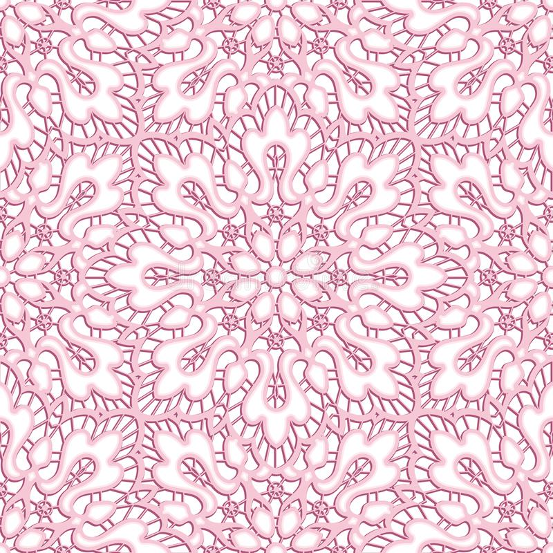 Lace texture, cutout paper pattern. Elegant lace texture, curly seamless pattern, cutout paper ornament, wedding tablecloth decoration royalty free illustration