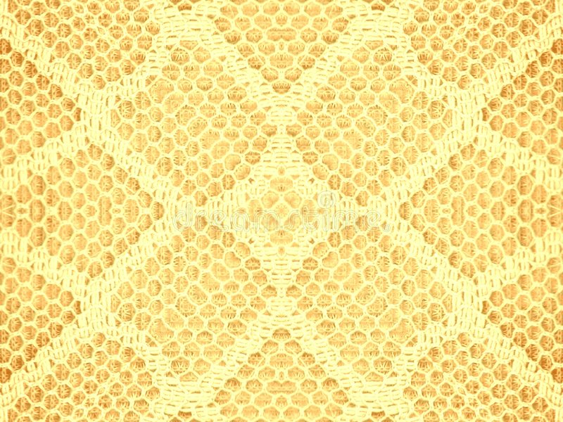 Lace Texture Pattern In Gold Stock Images