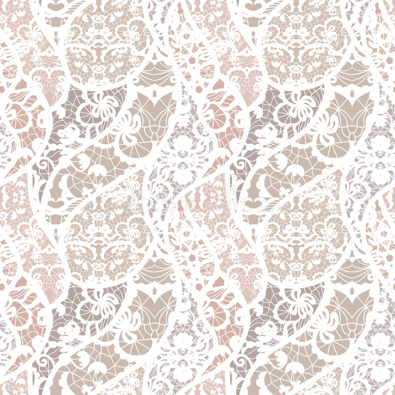 Download Lace Vector Fabric Seamless Pattern Stock Vector - Illustration of classic, flourishes: 29086893