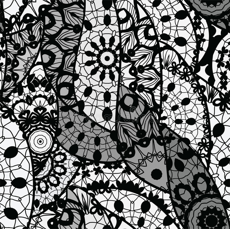 Lace Vector Fabric Seamless Pattern Royalty Free Stock Images