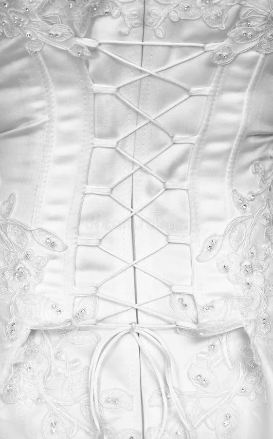 Lacement sur un corset - vue arrière photos stock