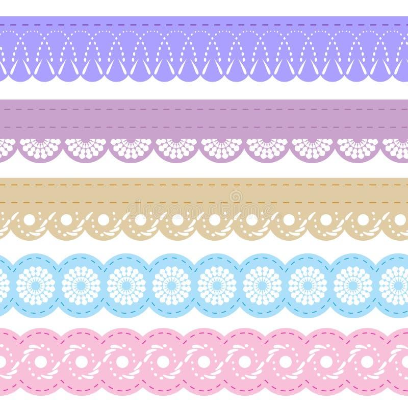 Download Laces for scrapbook stock illustration. Illustration of ornament - 25977667