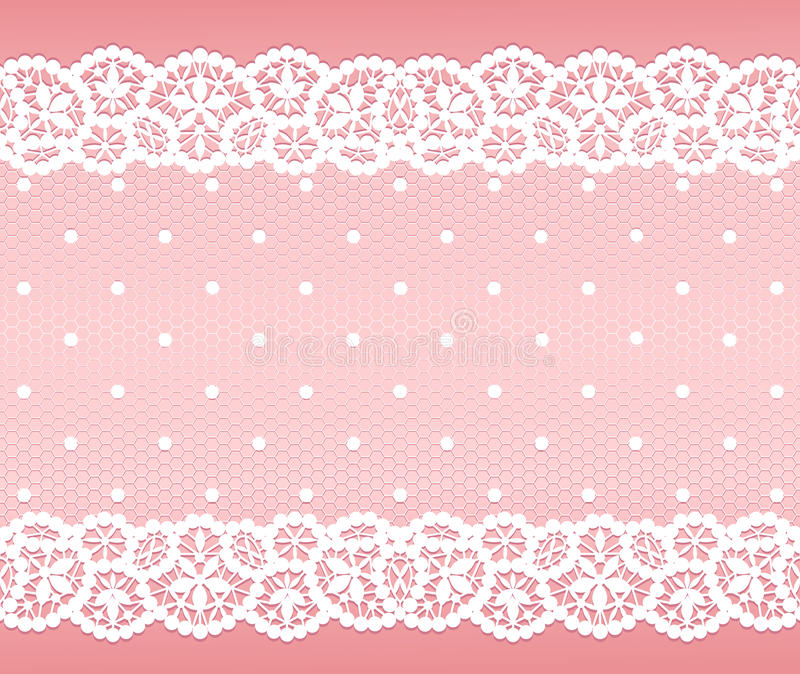 Lacet blanc illustration stock