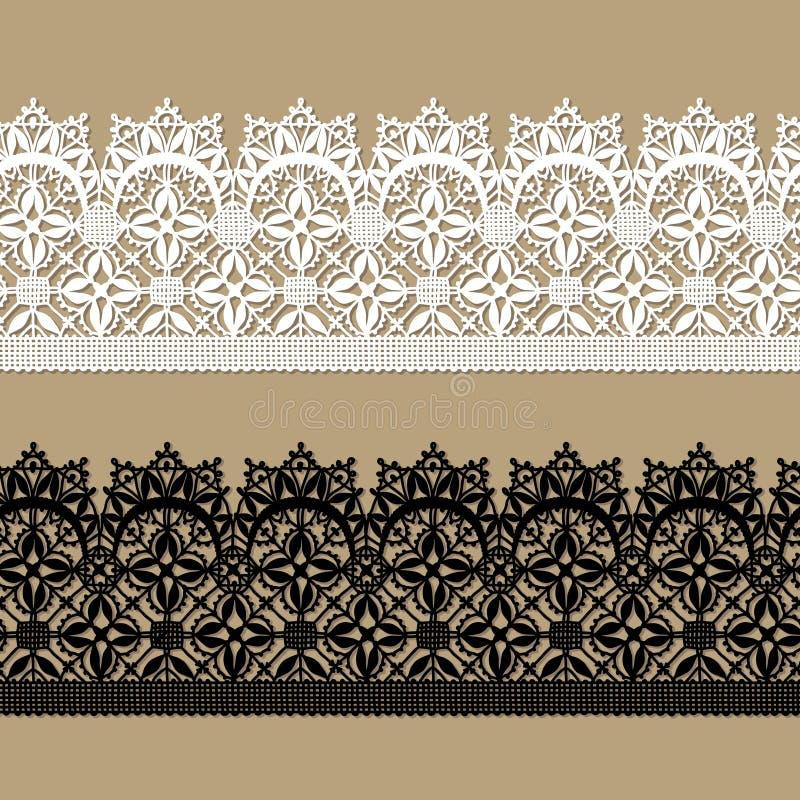 Lacet blanc Configuration sans joint de lacet noir illustration de vecteur