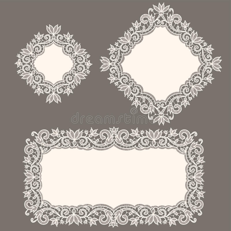 Lacet blanc napperon illustration libre de droits