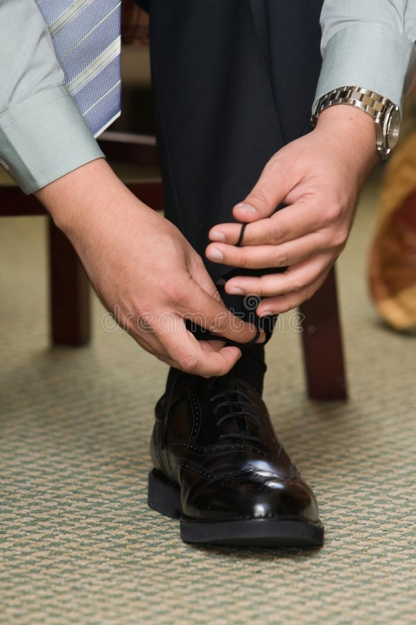 Lacet de chaussure photos libres de droits
