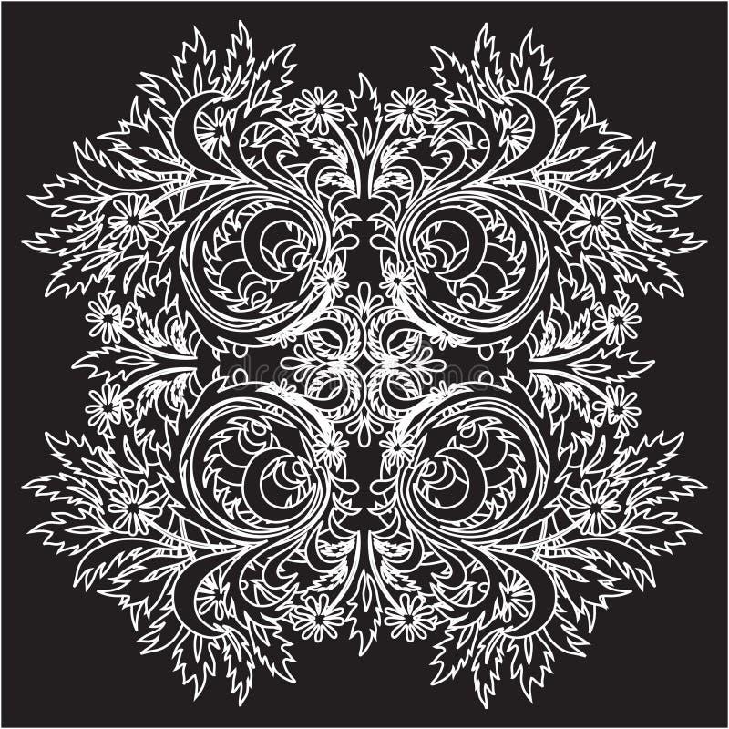 Lacet floral de vecteur illustration stock