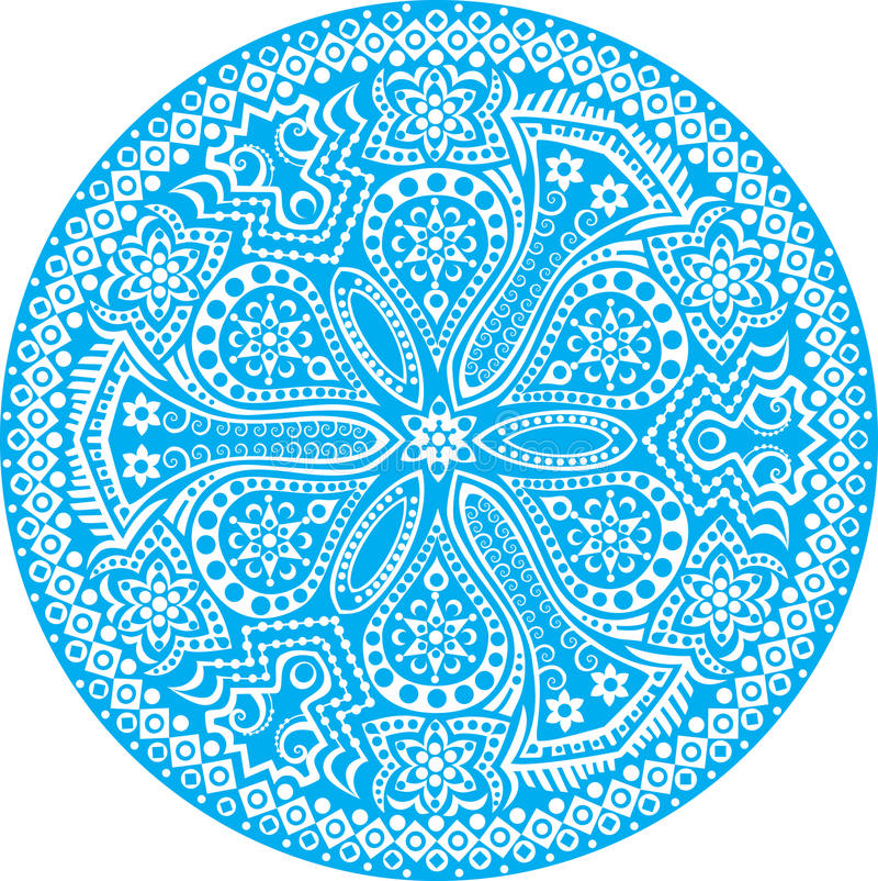 Lacet rond ornemental illustration de vecteur