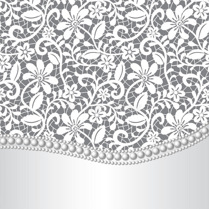 Lacet, soie et perle illustration libre de droits