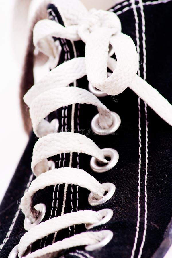 Lacets de chaussure photographie stock