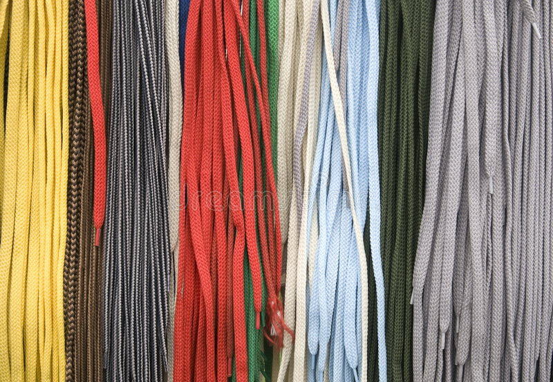 Lacets de chaussure photo stock