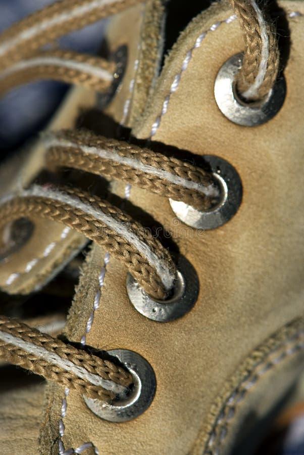 lacets de chaussure de groupe photos libres de droits