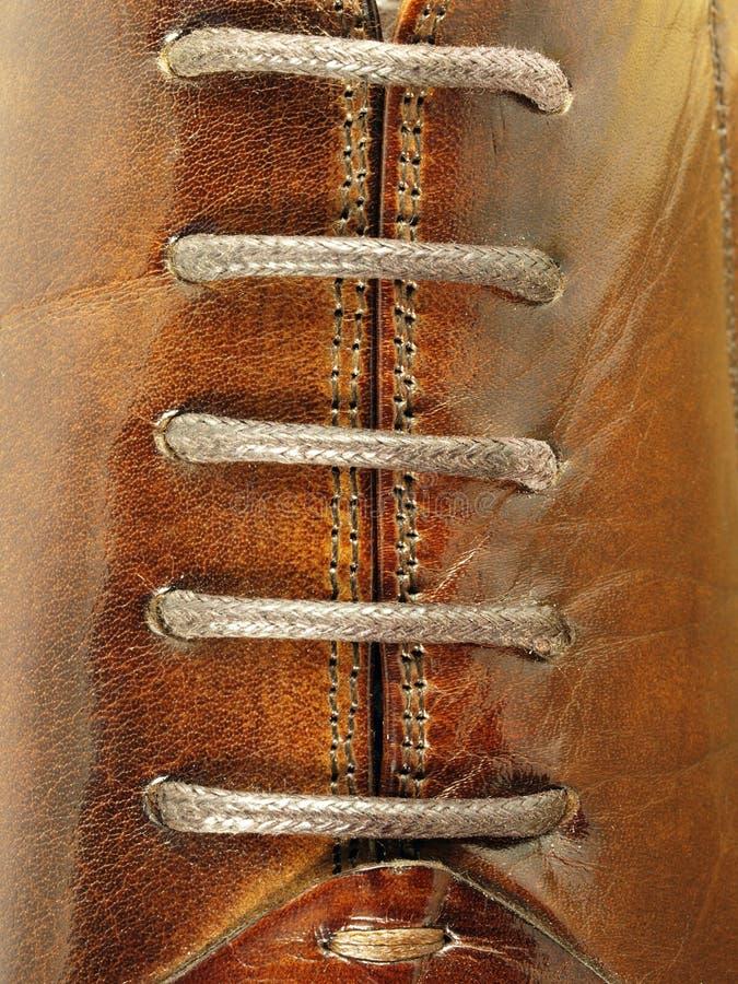 Lacets des chaussures photo libre de droits