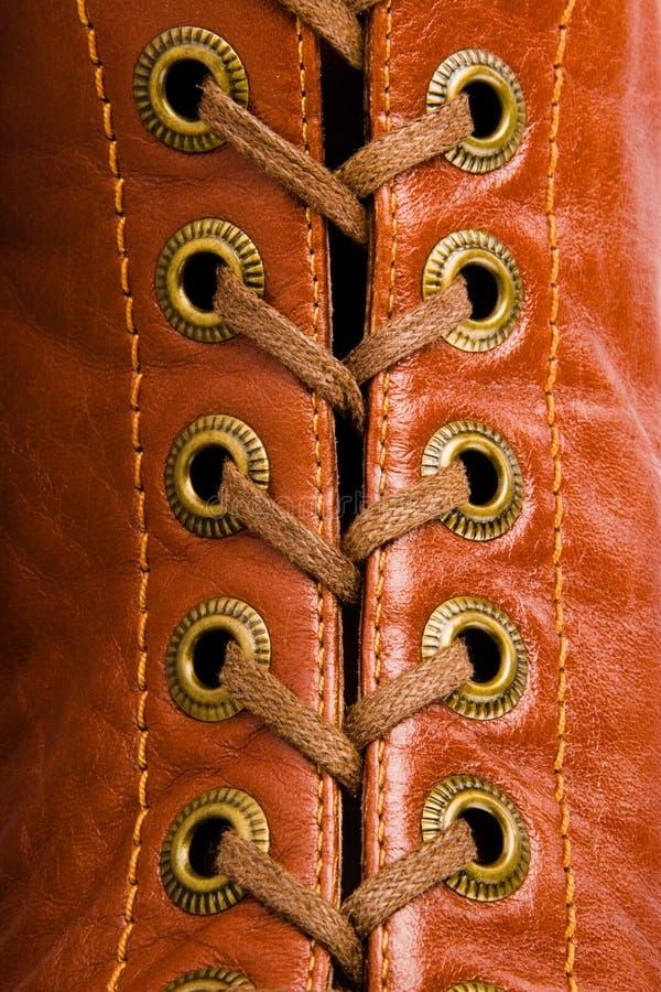 Lacets en détail. image libre de droits