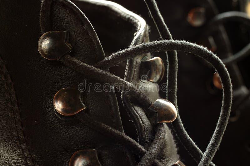 Lacets noirs image libre de droits