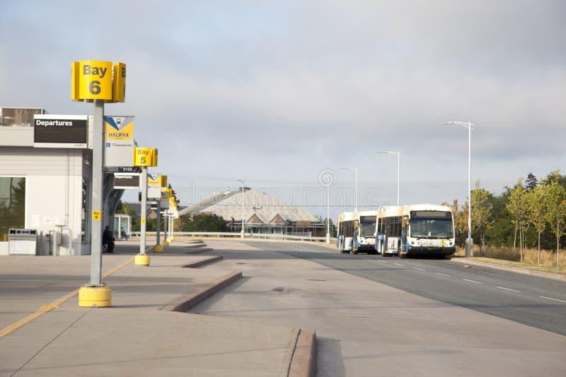 Lacewood地铁运输的公共汽车总站 免版税图库摄影