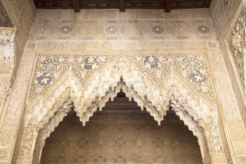 Laceworkgipspleister in Alhambra van Granada royalty-vrije stock afbeelding