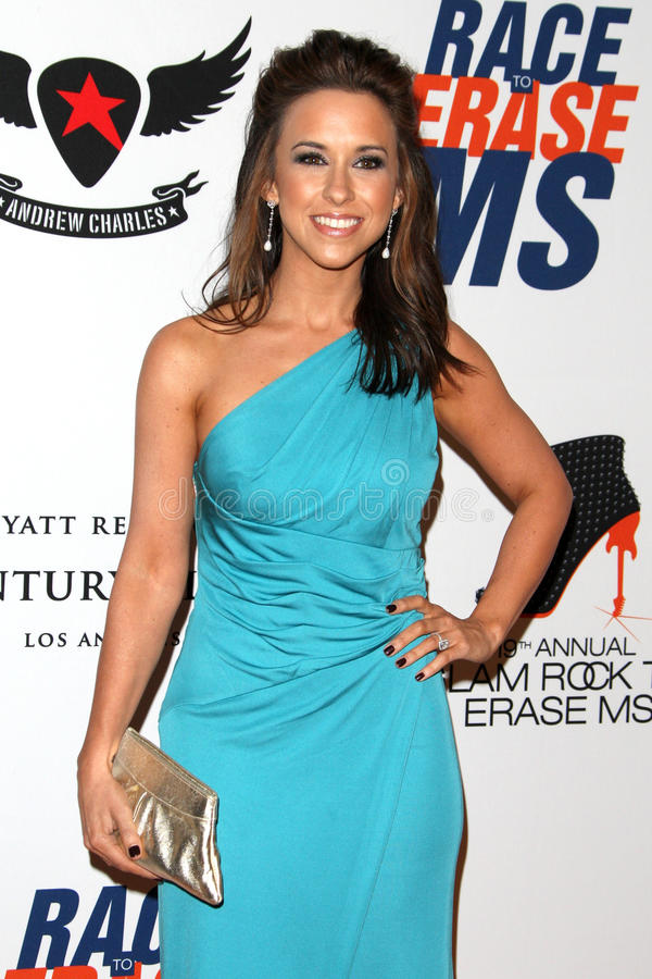 Lacey Chabert Arrives At The 19th Annual Race To Erase MS Gala Editorial Photo