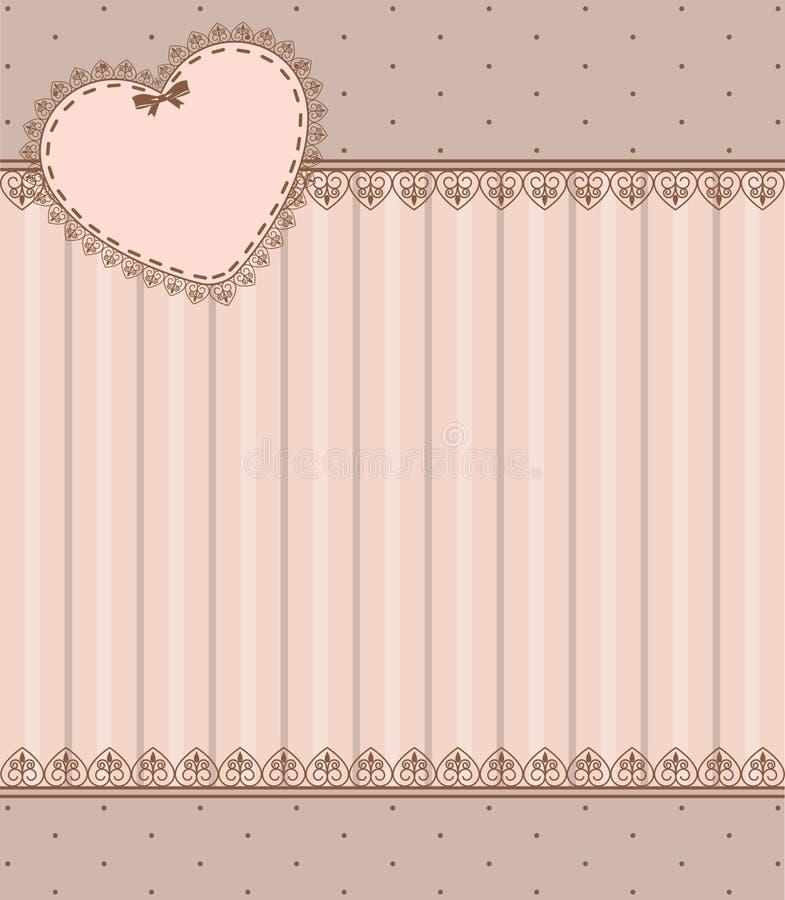 Lacez les ornements et le coeur illustration stock