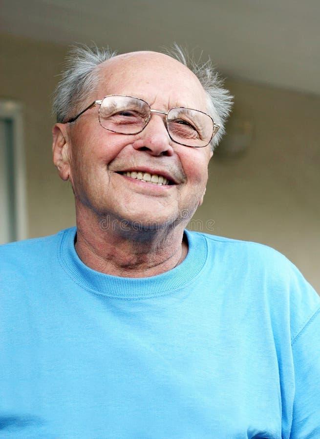 Lachen des alten Mannes stockfotos